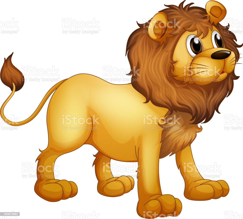 Strong lion royalty-free stock vector art
