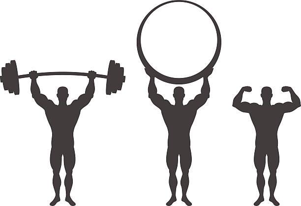 Hombre fuerte - ilustración de arte vectorial