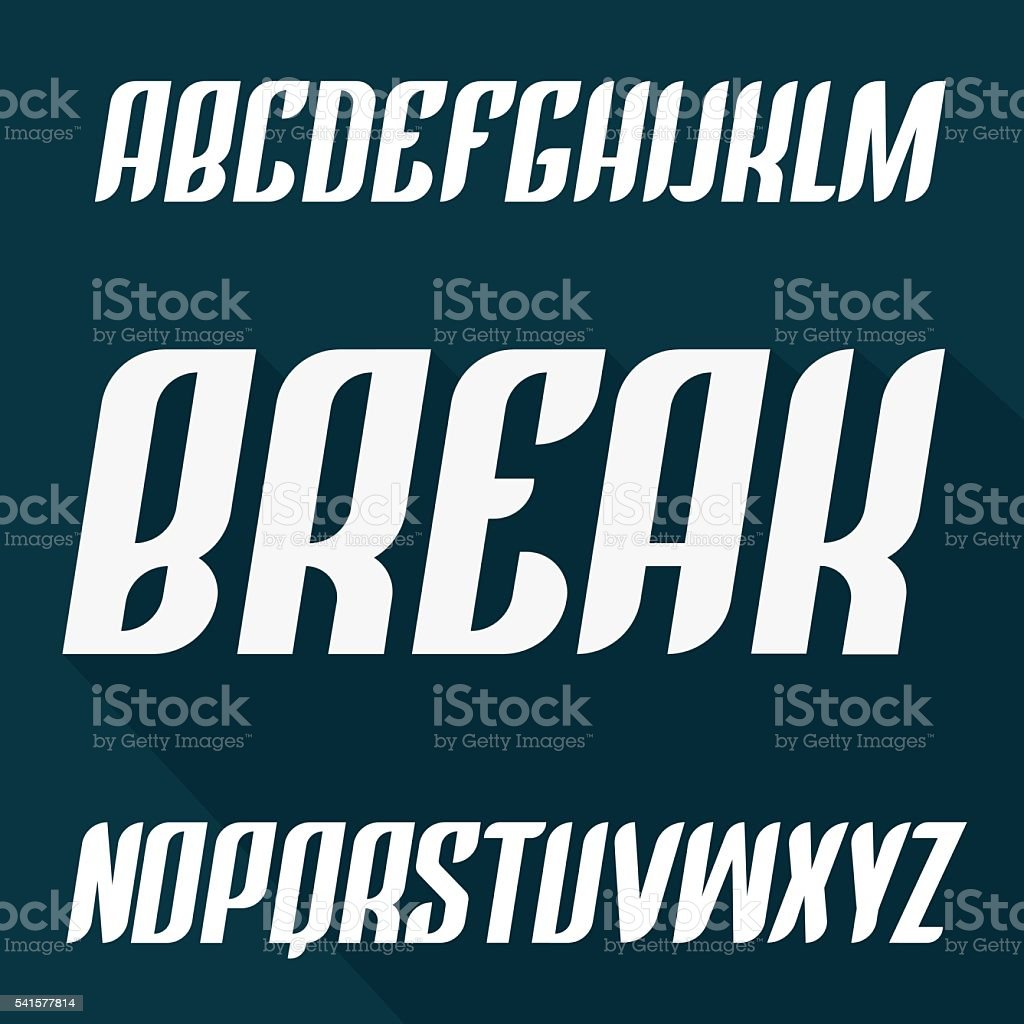 Strong modern typeset. Vector font. Trendy Condensed uppercase alphabet vector art illustration