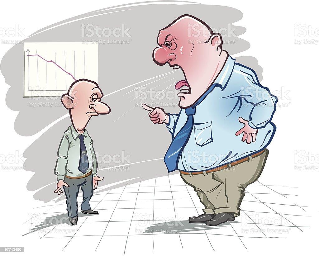 strong reprimand vector art illustration