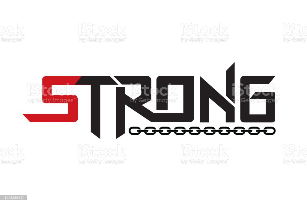 Strong typography design vector, for t-shirt, poster and other uses vector art illustration