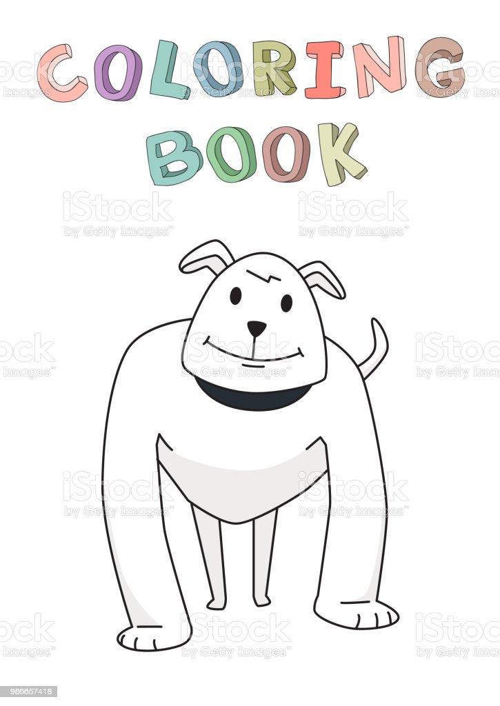 Ilustración de Pie Fuerte De Perro Guardián Divertido Personaje De ...