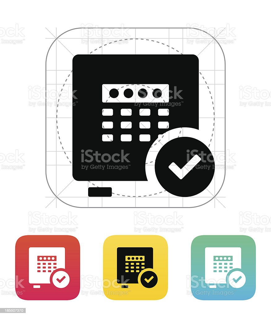Strongbox check icon. royalty-free stock vector art