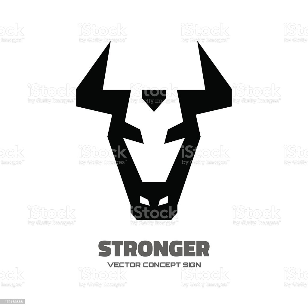 Stronger - vector logo concept illustration vector art illustration