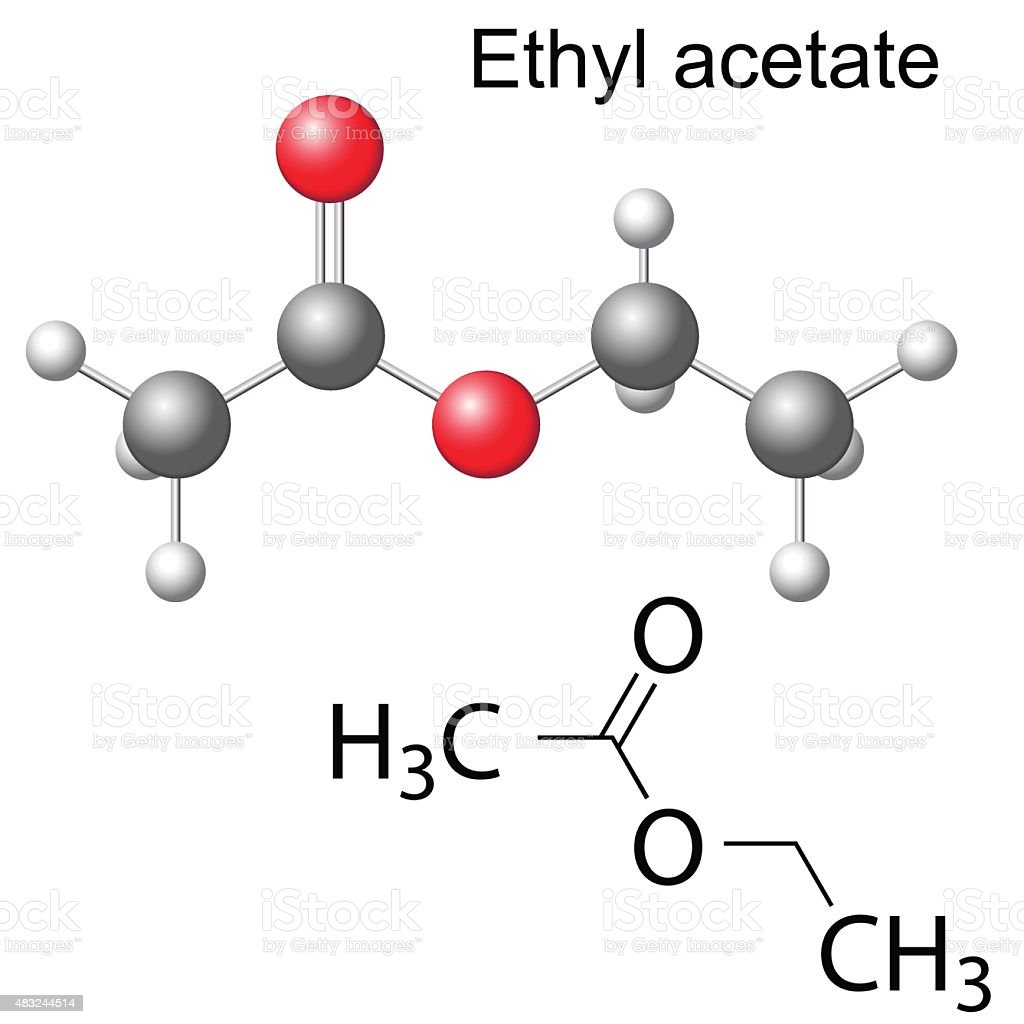 Structural chemical formula and model of ethyl acetate stock structural chemical formula and model of ethyl acetate royalty free structural chemical formula and model buycottarizona Images