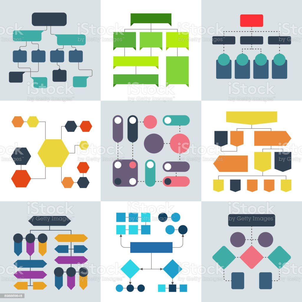 Structural flow diagrams, flowcharts and flowing process structures. Vector infographics elements royalty-free structural flow diagrams flowcharts and flowing process structures vector infographics elements stock illustration - download image now