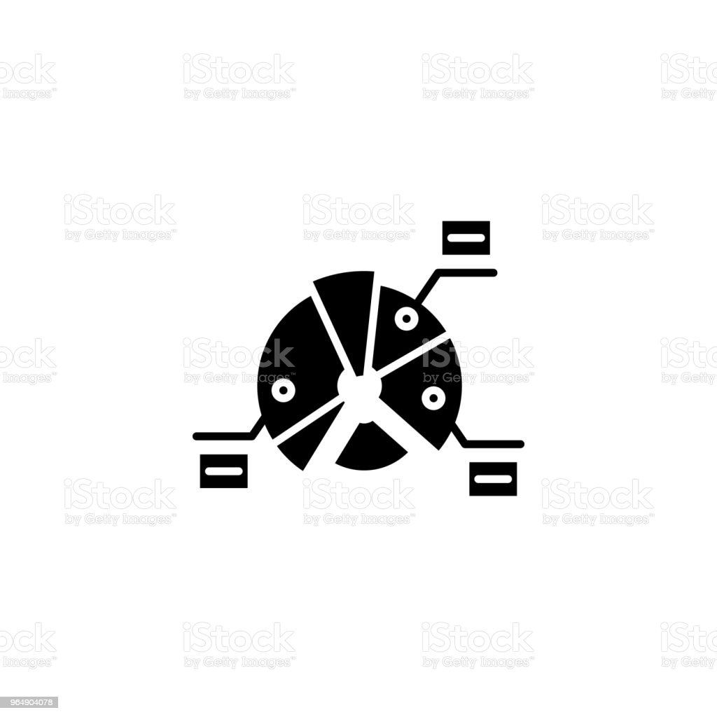 Structural market elements black icon concept. Structural market elements flat  vector symbol, sign, illustration. royalty-free structural market elements black icon concept structural market elements flat vector symbol sign illustration stock vector art & more images of abstract