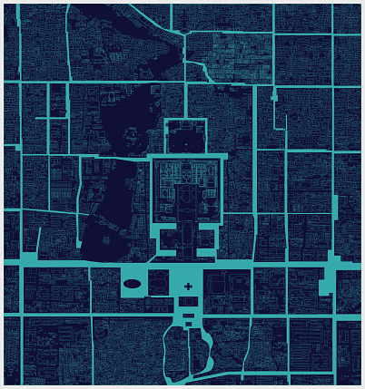 structure line map of Beijing city,china