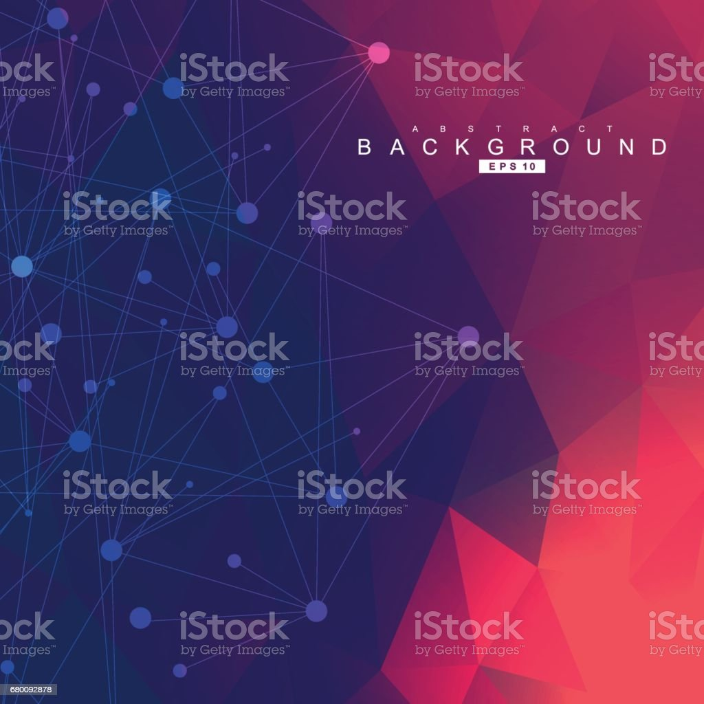Structure molecule and communication. Dna, atom, neurons. Scientific concept for your design. Connected lines with dots. Medical, technology, chemistry, science background. Vector illustration. vector art illustration