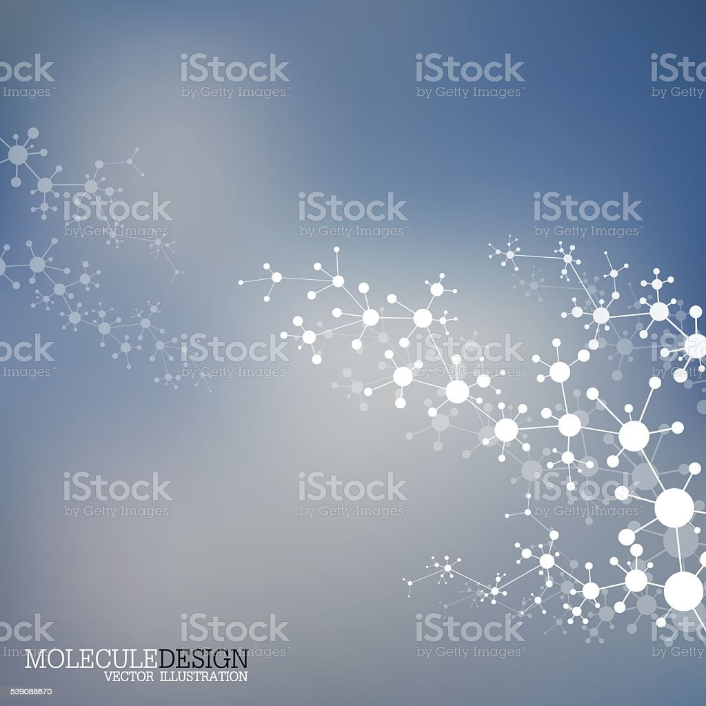 Structure molecule of DNA and neurons. Abstract background. Medicine, science vector art illustration