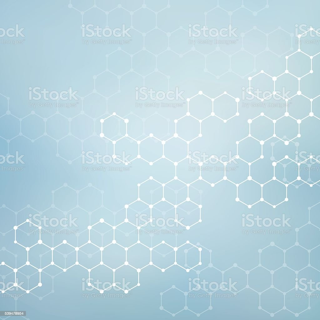 Structure molecule of DNA and neurons. Abstract background. Medicine, science royalty-free structure molecule of dna and neurons abstract background medicine science stock illustration - download image now