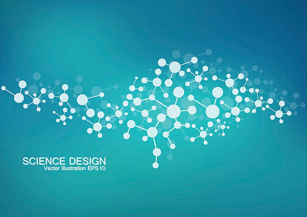 Structure molecule of DNA and neurons. Structural atom. Chemical compounds Structure molecule of DNA and neurons. Structural atom. Chemical compounds. Medicine, science, technology concept. Geometric abstract background. Vector illustration for your design neuroscience abstract stock illustrations
