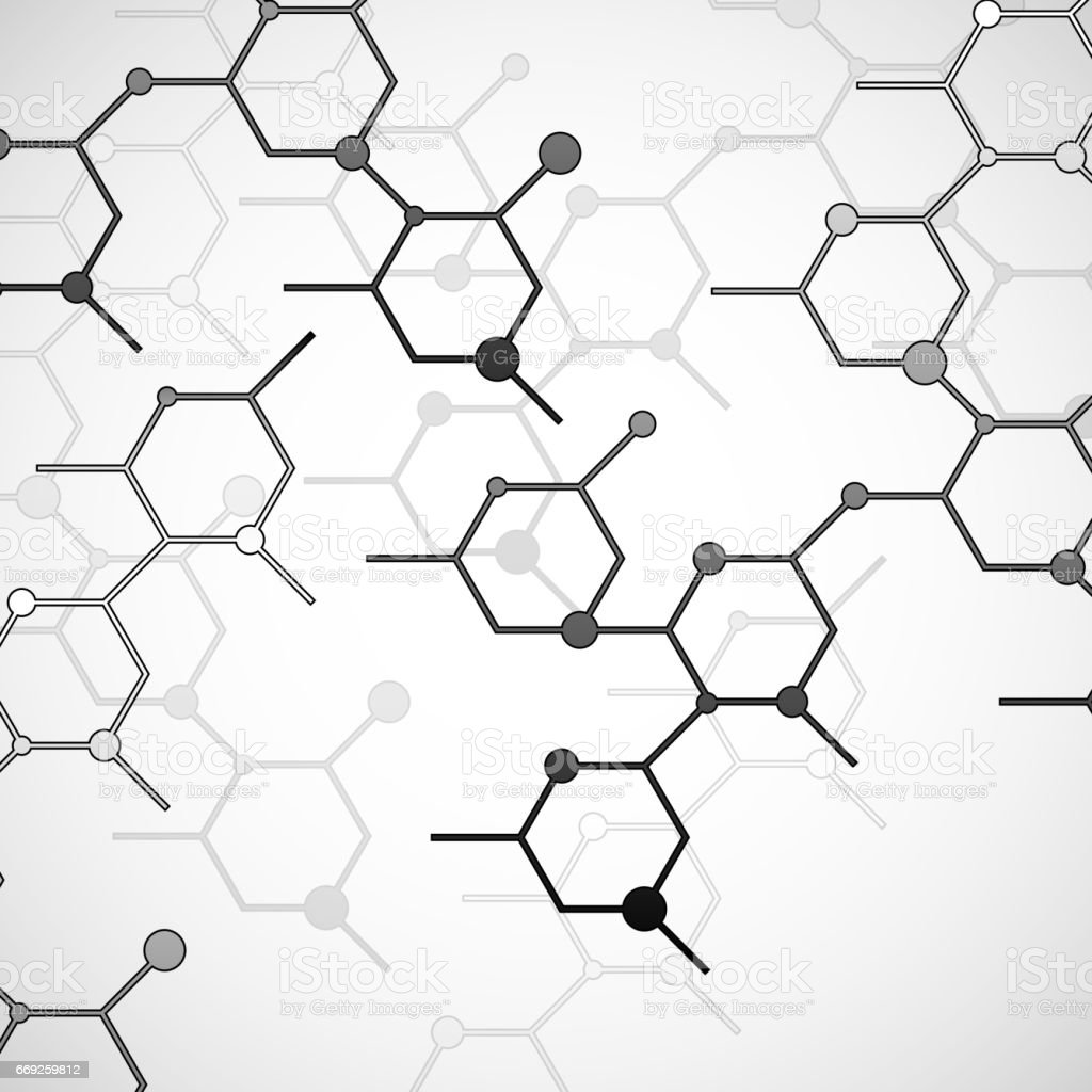 Structure molecule of DNA vector art illustration