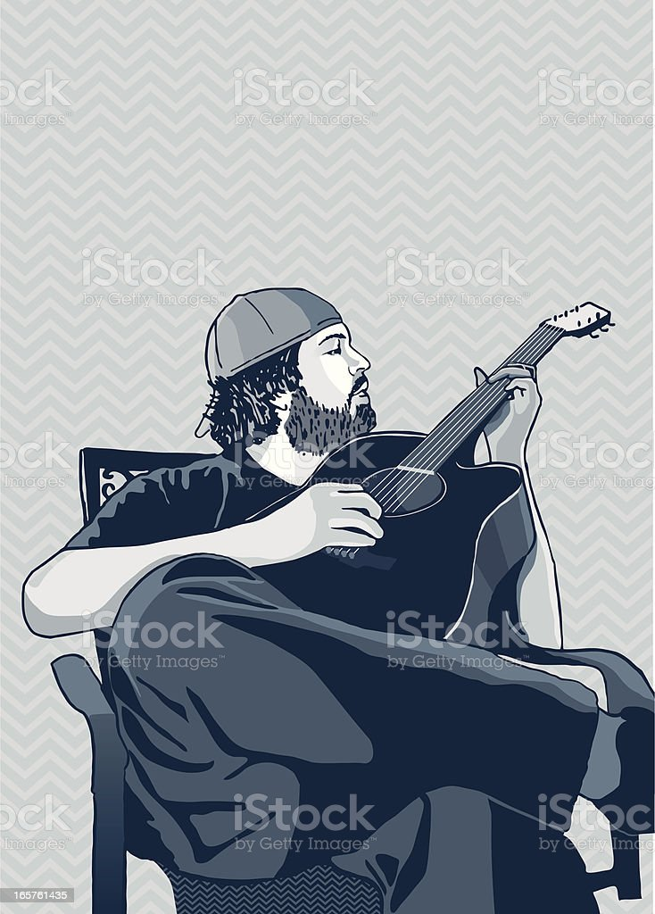 Strumming royalty-free strumming stock vector art & more images of acoustic guitar