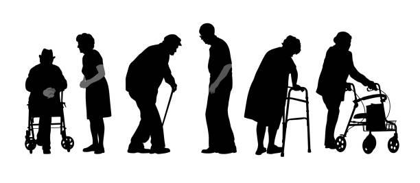 Hartnäckige Senioren – Vektorgrafik