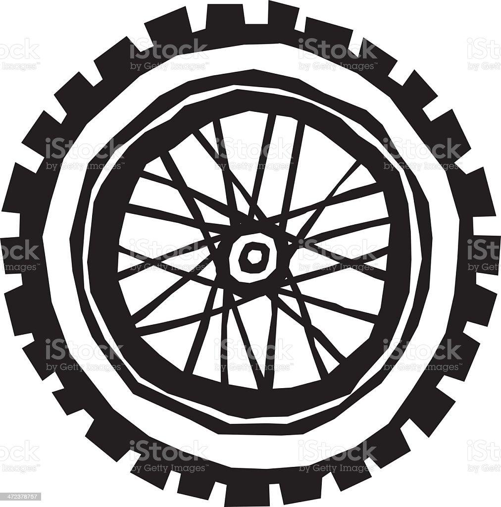 Stubby Bike Tire vector art illustration