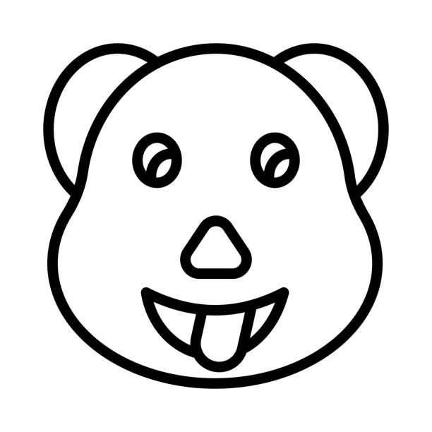 streckte gesicht emoji - feststecken stock-grafiken, -clipart, -cartoons und -symbole