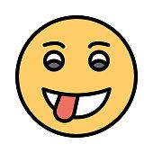 stuck out   face  emoji