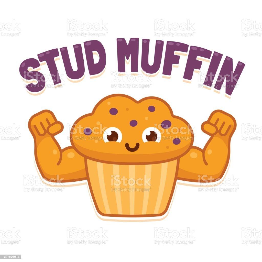 Stud Muffin illustration vector art illustration