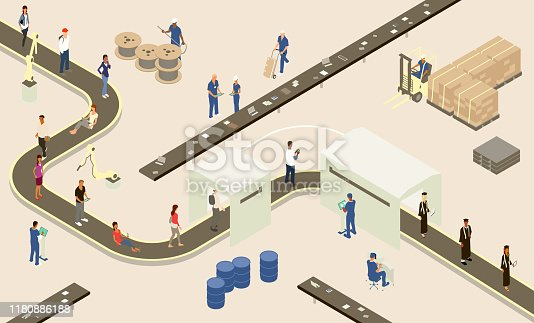 istock Student Assembly Line illustration 1180886188