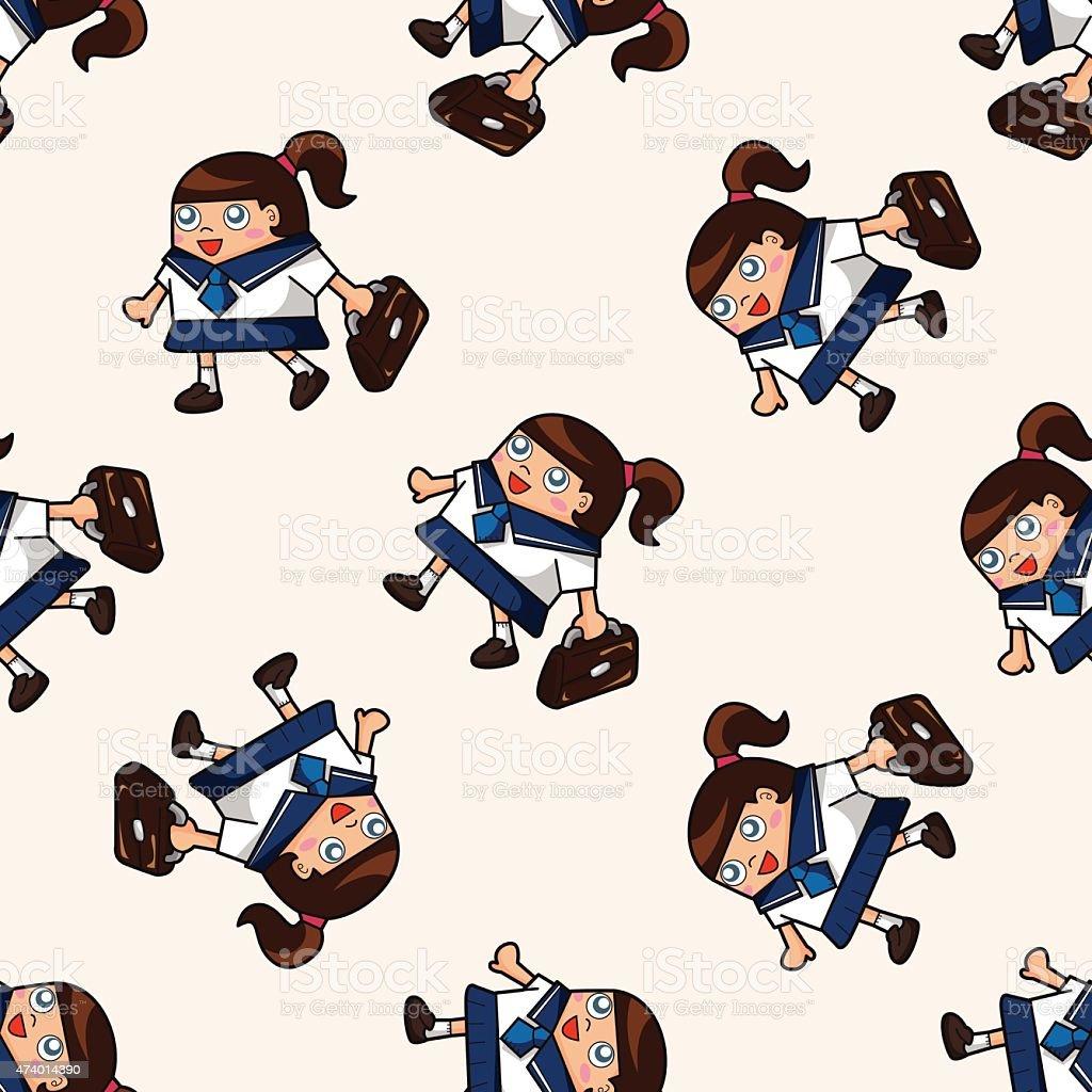 Etudiant Motif Sans Couture Dessin Anime Fond Cliparts Vectoriels