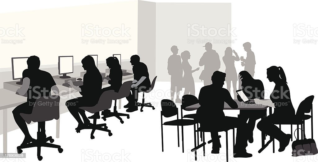 Student Computers royalty-free stock vector art