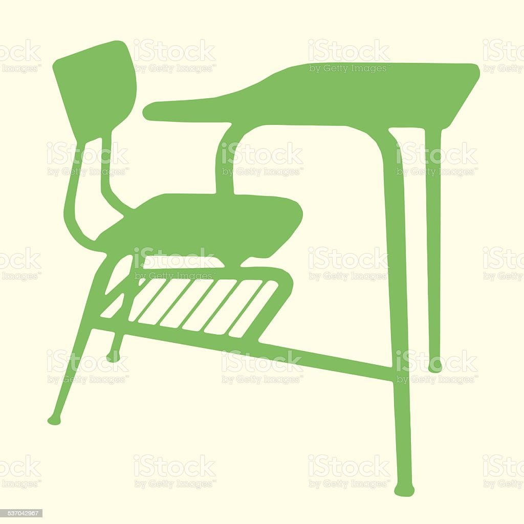 Student Desk vector art illustration