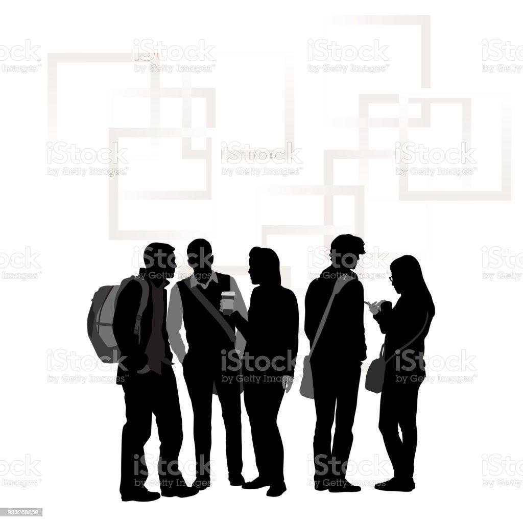 Studentengruppen Freund – Vektorgrafik
