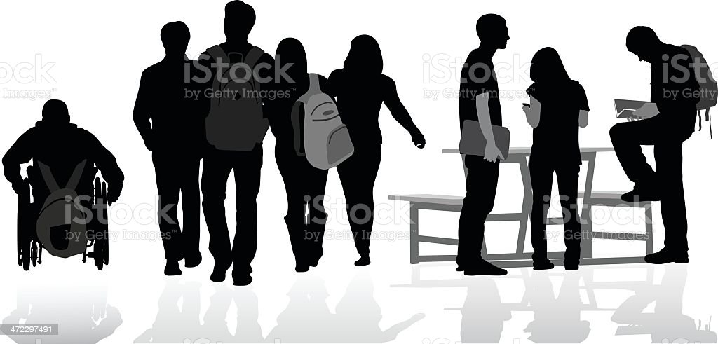 Student Friends royalty-free stock vector art
