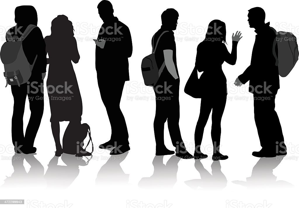 Student Friends royalty-free student friends stock vector art & more images of adult
