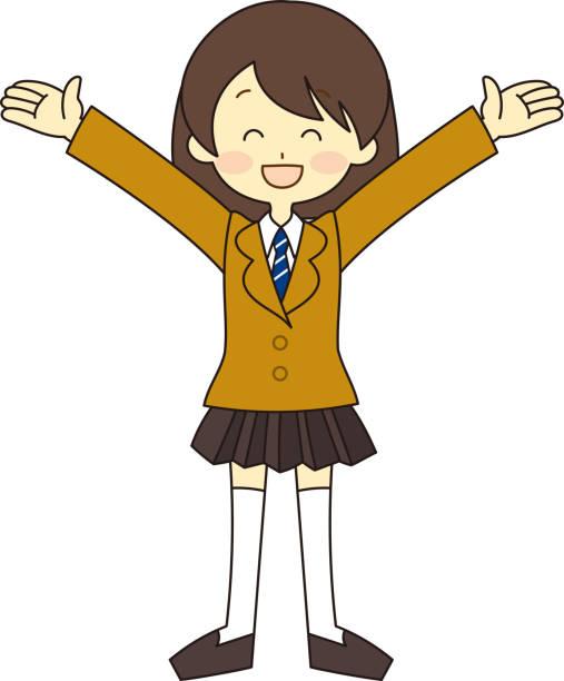 illustrazioni stock, clip art, cartoni animati e icone di tendenza di student full body illustration - esame maturità