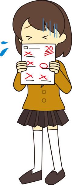 illustrazioni stock, clip art, cartoni animati e icone di tendenza di illustrazione per tutto il corpo dello studente - esame maturità