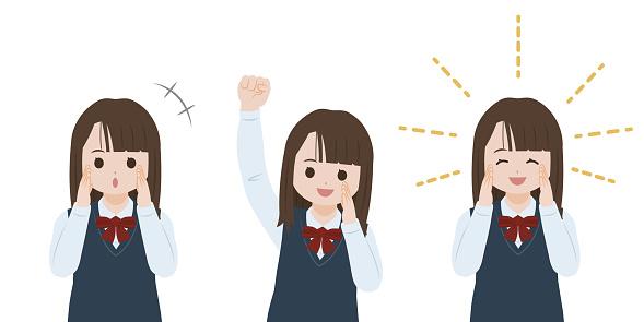 Student girl Cheering illustration