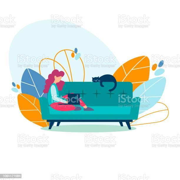 Student girl freelancer studying working on a laptop at home vector id1064121584?b=1&k=6&m=1064121584&s=612x612&h=8z2zwdgctzbmnhzxnxutqrch99gnojrlwkewbryjrje=