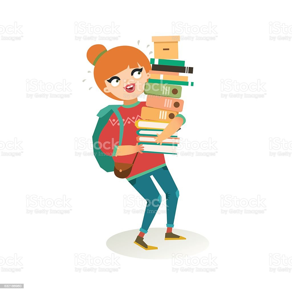 royalty free college girl clip art vector images illustrations rh istockphoto com girls student clipart png girl student clipart