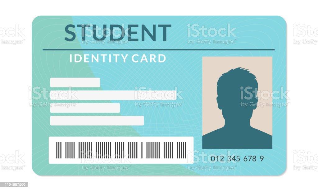 Student ID card. University, school, college identity card. Vector...