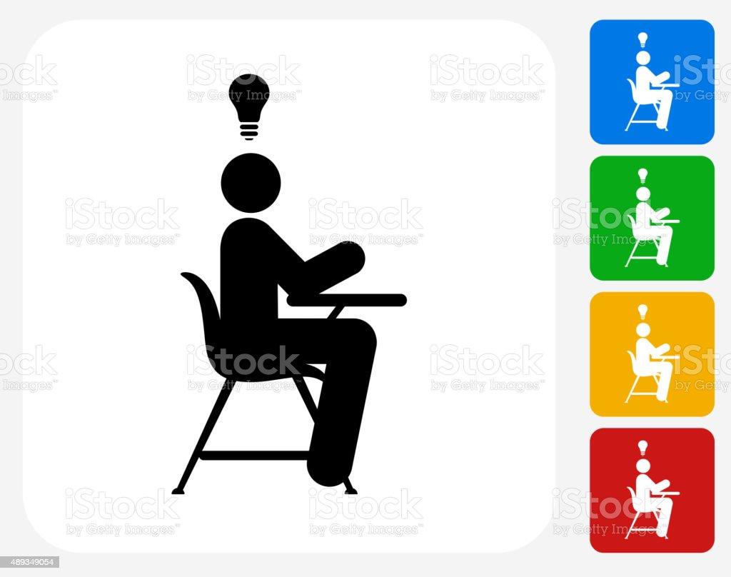 Idee Plat Etudiant.Etudiant Icone De Graphique Design Plat Idee Stock Vecteur