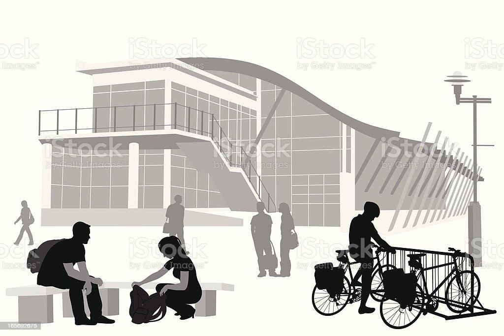 Student Life Vector Silhouette vector art illustration