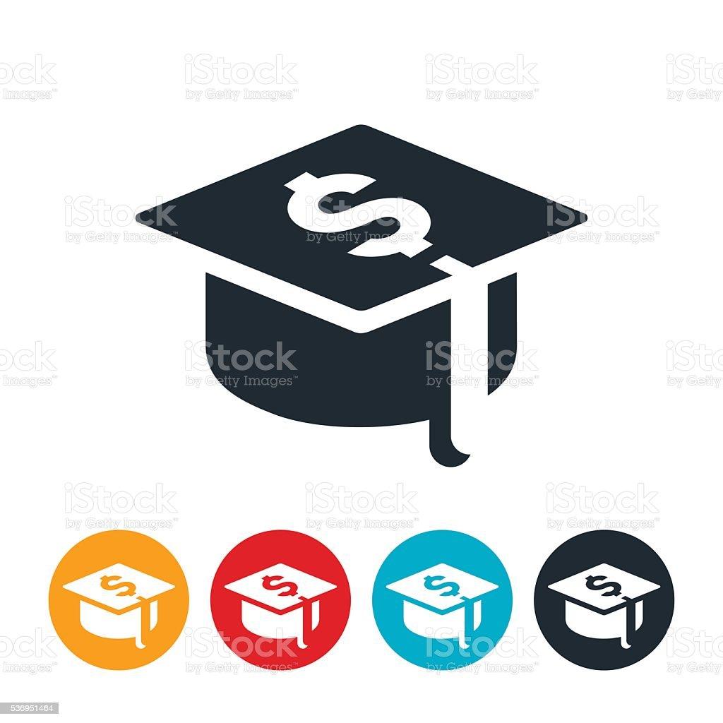 Student Loan Debt Icon vector art illustration