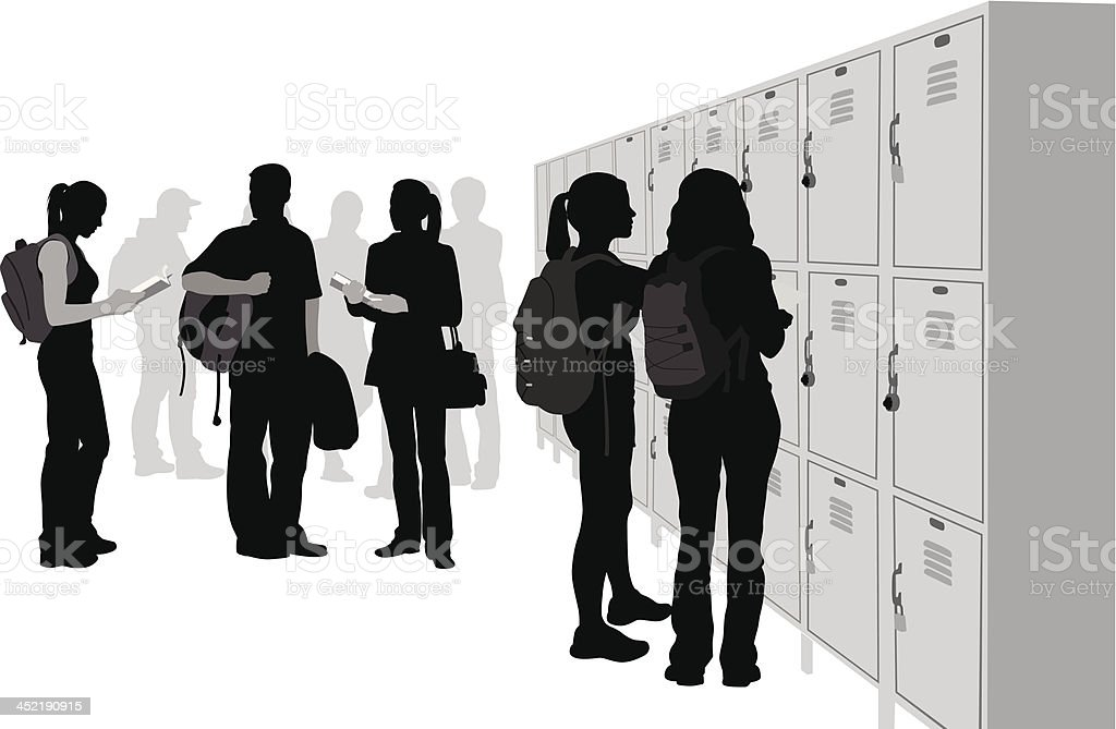Student Lockers vector art illustration