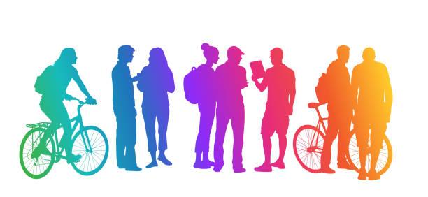 Student Transportation Rainbow vector art illustration
