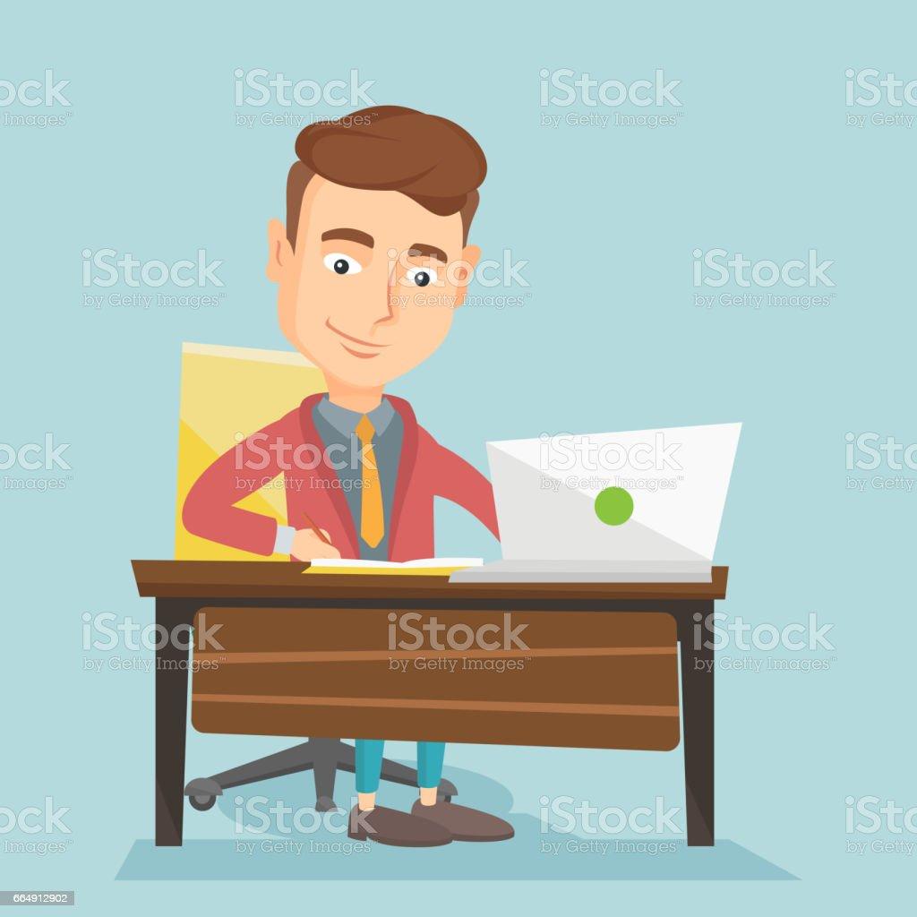Student using laptop for education student using laptop for education - immagini vettoriali stock e altre immagini di canada royalty-free