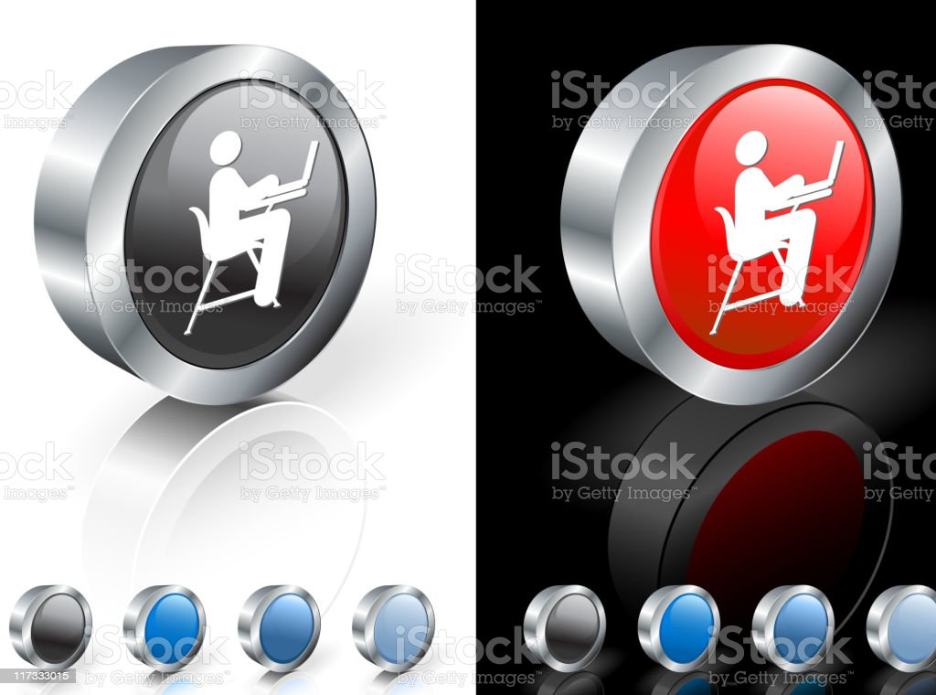 student working laptop computer 3D royalty free vector art royalty-free stock vector art
