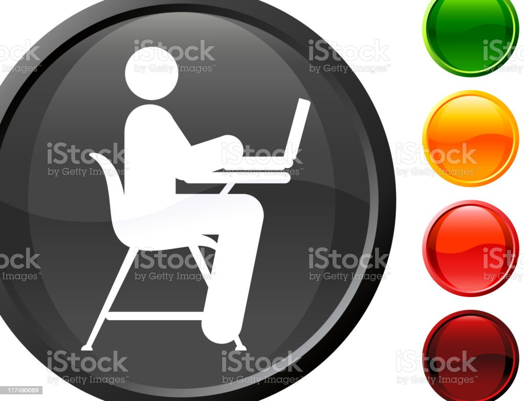 student working on a laptop internet royalty free vector art royalty-free stock vector art