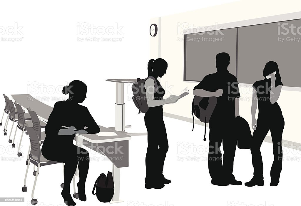 Students All Vector Silhouette royalty-free stock vector art
