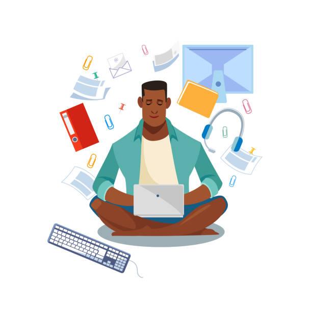 ilustrações, clipart, desenhos animados e ícones de conceito de vetor alunos cartoon on-line de e-learning - college people laptop