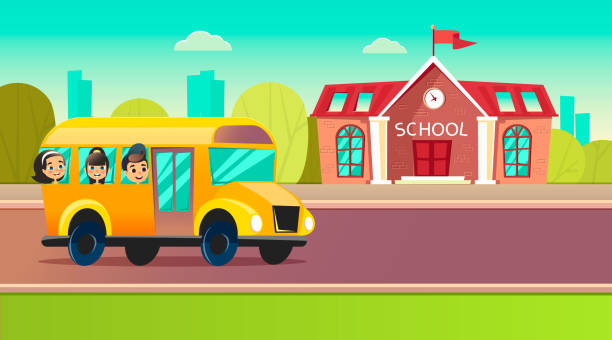 School bus stock illustrations