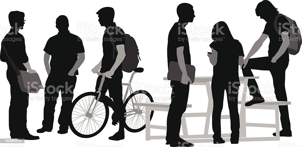 Students' Here Vector Silhouette royalty-free students here vector silhouette stock vector art & more images of adult