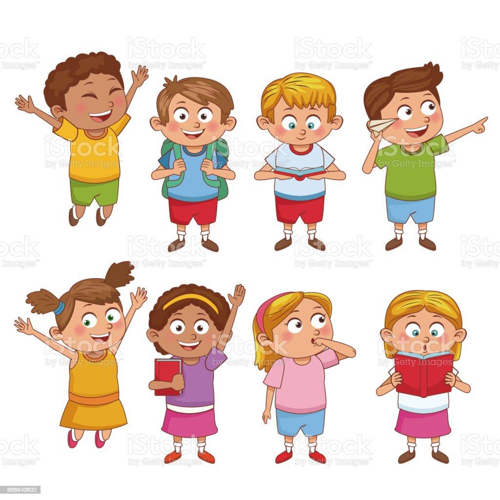 Clases Etapa Escolar Dibujos Animados Estudiantes Wwwimagenesmycom