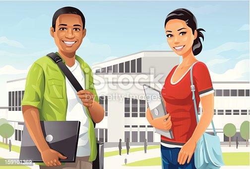 istock Students on Campus 159101369